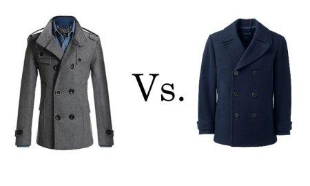trench coats vs pea coats
